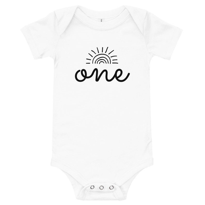 Sunshine Baby One Year Old Outfit Baby Bodysuit One Baby Birthday Baby Onesie