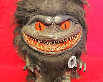 Critter prop replica 1:1 scale, the critters doll plush life size, monster slasher movie, creepy spooky puppet, horror movie, halloween