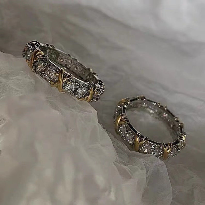 Classic Diamond Ring Moissanite Ring Engagement Ring Stacking Rings Promise Ring Brida Bridesmaid Wedding Ring Birthday Valentine Gift