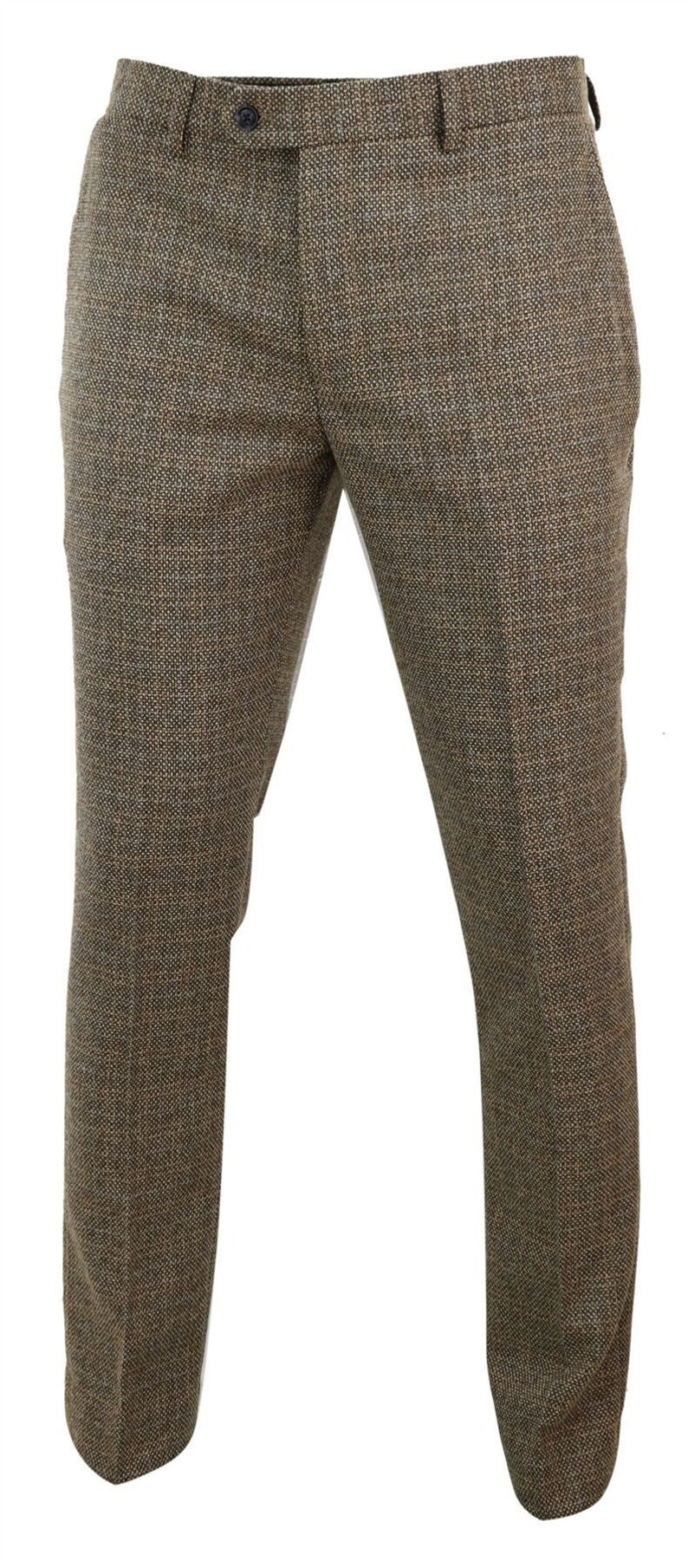 1920s Men's Pants History: Oxford Bags, Plus Four Knickers, Overalls     Mens trousers tweed check vintage retro  tailored fit 1920s $72.13 AT vintagedancer.com