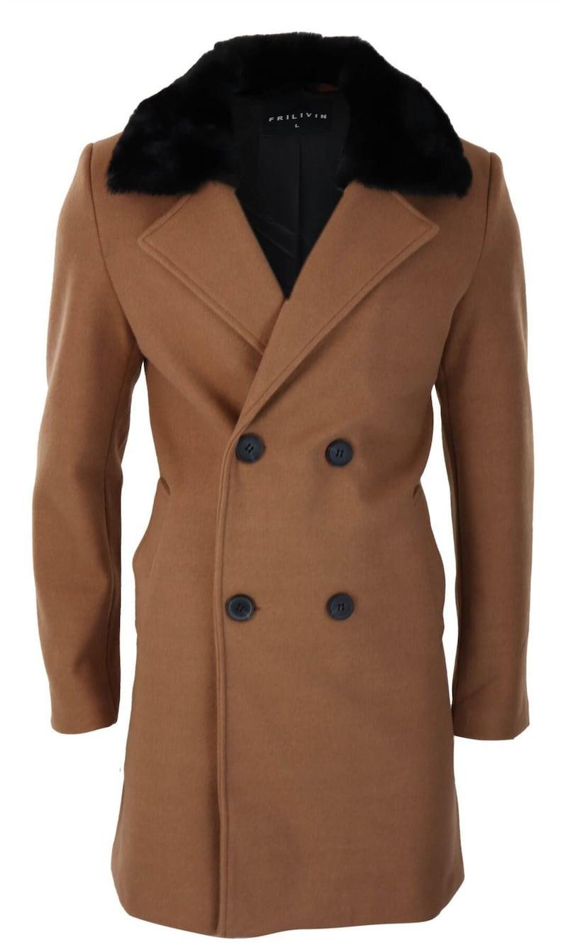 50s Men's Jackets | Greaser Jackets, Leather, Bomber, Gabardine     Mens wool double breasted 1920s vintage overcoat slim fit fur collar jacket $96.67 AT vintagedancer.com