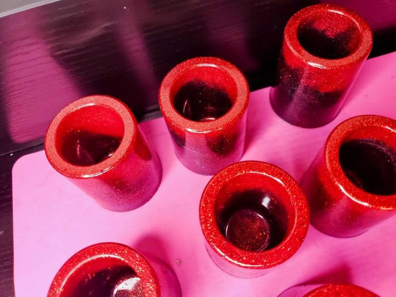 Custom Resin Shot Glasses Set of 8