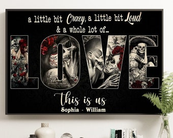 You and Me We Got This Untill Death Do Us Apart Skull Alentine/'s day father/'s day mother/'s day Poster No Frame or Canvas 0.75in Framed