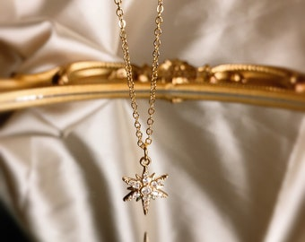 Round Shell Charm Gold Plated Gold chain necklace Hypoallergenic Gold Charm Necklace The Ophelia Necklace Anti-tarnish