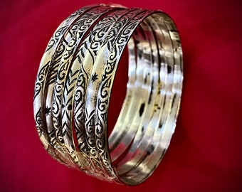 Berber Jewish ethnic bracelets hand-carved by a Jewish craftsman in southern Morocco