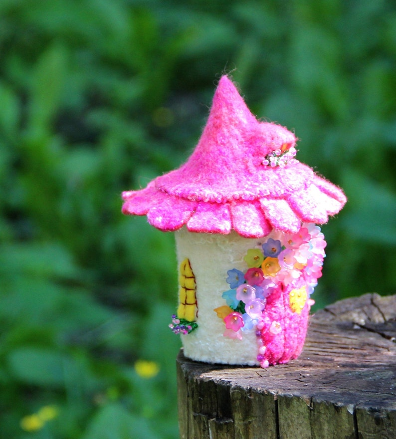 Tooth Fairy  Box Pink fairy house Fairycore decor  daughter gift Made to order tiny house