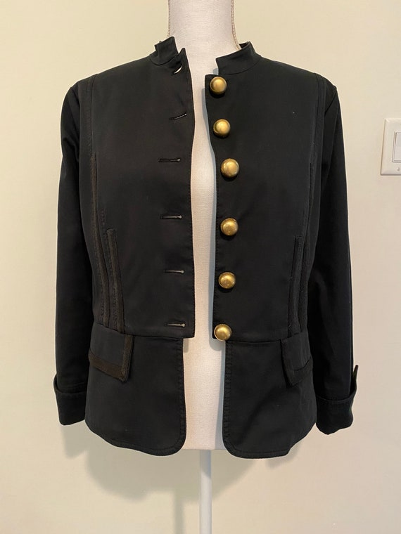 Vintage Escada Black Military Jacket