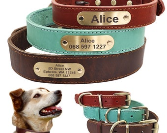 Leather Dog Collar, Personalized dog collar, Personalized Leather Dog Collar, Cat Collar, Leather Cat Collar, Personalized Collar , Designer