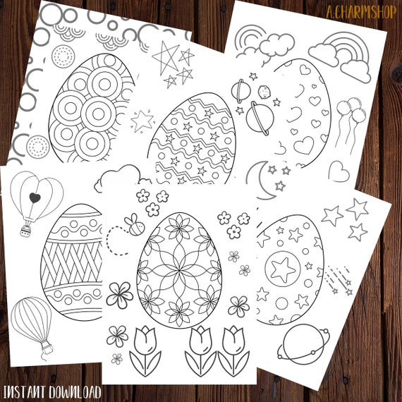 Easter Egg Coloring pages 6 printable Coloring Pages Easter