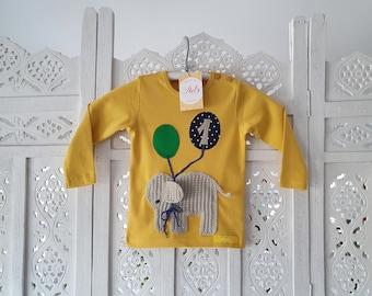 "Birthday shirt ""Elephant with balloons"""