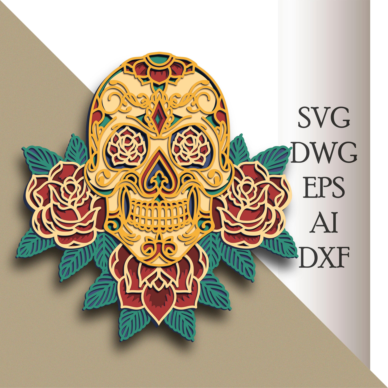 88+ Mandala Skull Svg – SVG,PNG,DXF,EPS include