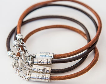 Rough-out Leather Hatband with Antique Silver Dome Spots.