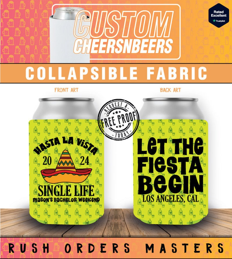 Personalized Collapsible Can Drink Coolers Party Favor Thank Goodnes I Don/'t Have To Hunt For The Food 5 De Mayo Collapsible Can Cooler 4
