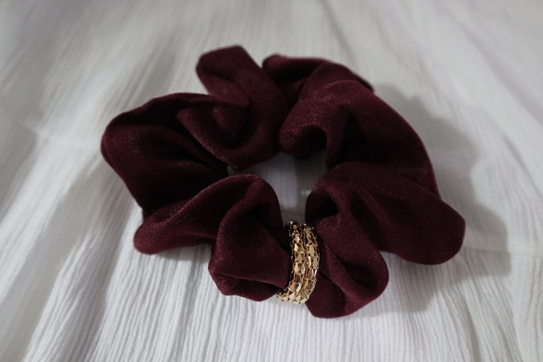 Double Gold Ring Scrunchies Gorgeous Velvet Scrunchies Oversized Scrunchies Hair Scrunchies