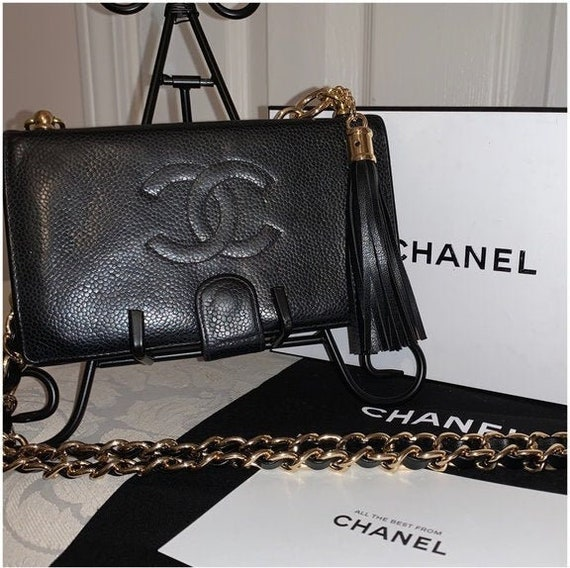 CHANEL Vintage French Wallet On Chain Crossbody
