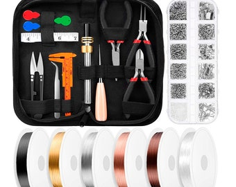 Wire Wrapping Jewelry Making Supplies Kit with Jewelry Wire, Jewelry Tools, Jewelry Pliers and Jewelry