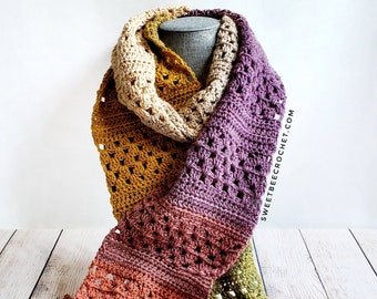 One Skein Granny Rows Scarf (Crochet Pattern)