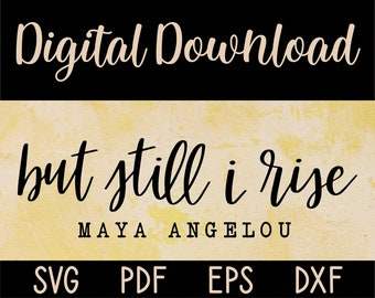 black pride African American S190 I rise text eps dxf jpeg png svg cutting file And still