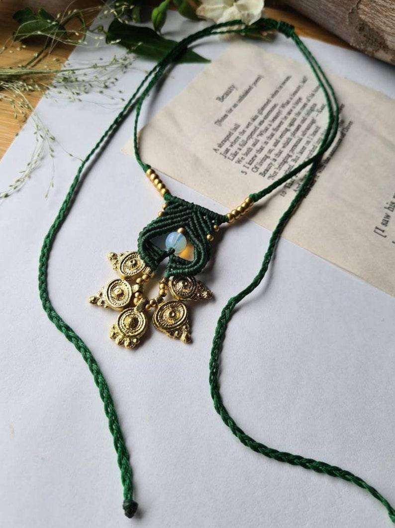 Moonstone Forest Necklace