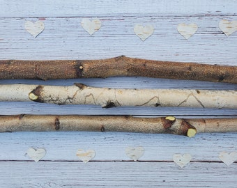 2ft Hand Cut Birch Logs, Pack of 3 for Woodworking Crafts Woodburner Decorative Fireplace Mantel Wall Hanging Rack Free Shipping