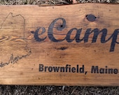 Rustic AF Maine Barnboard Custom Sign
