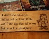 Rustic Hobbit Sign
