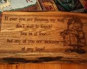 Rustic Oak Hobbit Sign