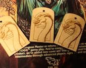 Wood Dragon Pendant or Keytag