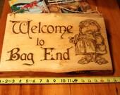Large Hobbit Sign Bag End