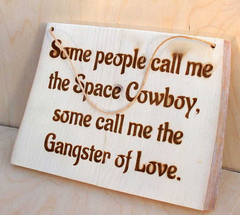 Space Cowboy Rustic Sign image 0