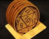 RPG Game Dice Coaster Set with Stand