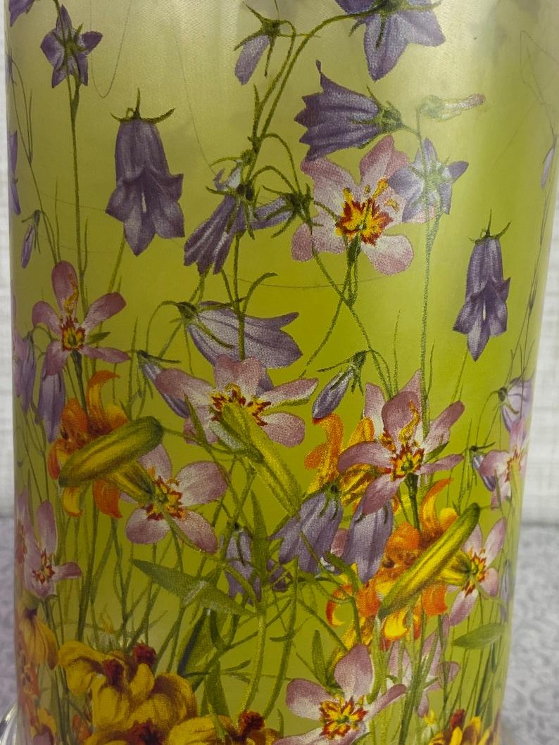 Vintage Glass GOEBEL Smithsonian Institute Collection \u201cWildflowers\u201d