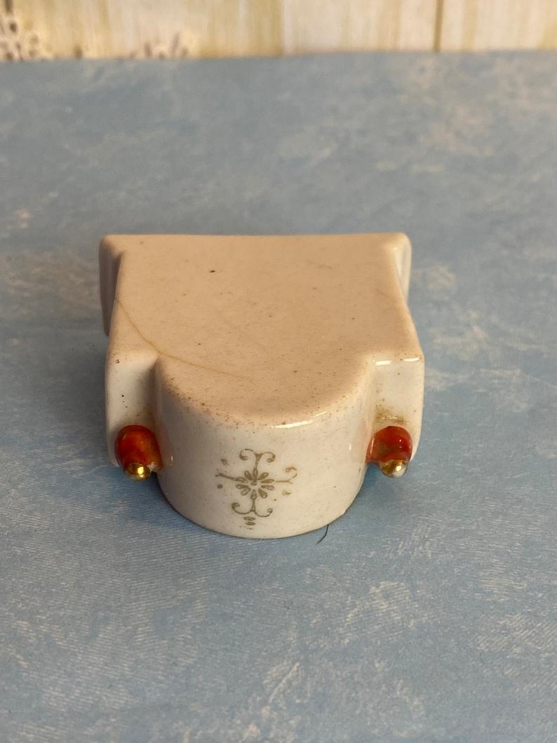 Miniature Porcelain Clock Figurine Made in Occupied Japan between 1947-1952