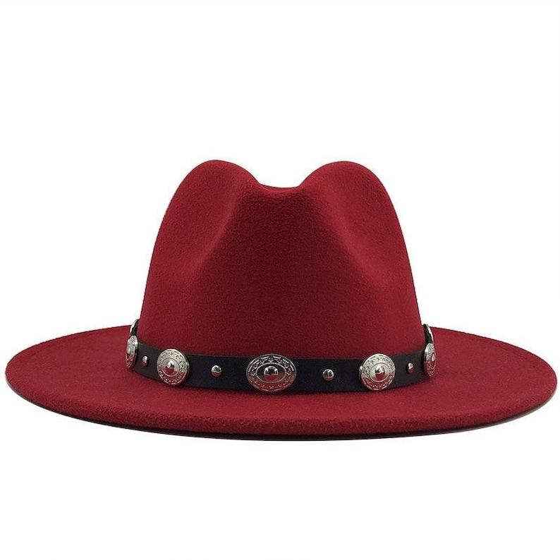 British Fedora Hat Men Women Fashion Jazz Hat Fedoras Chapeau Church hat High Quality Wool Felt Trilby Fedora Hat With Leather Band