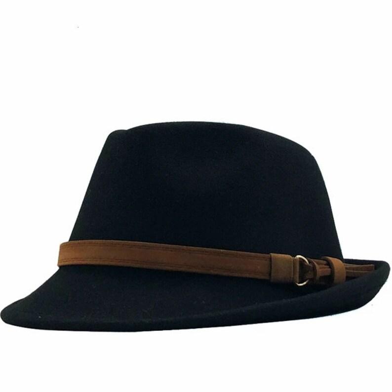 Wool Felt Jazz Fedora Hats White Hat for Men Or Women Men/'s Gain Short Brim Felt Fedora Hat With Leather Band