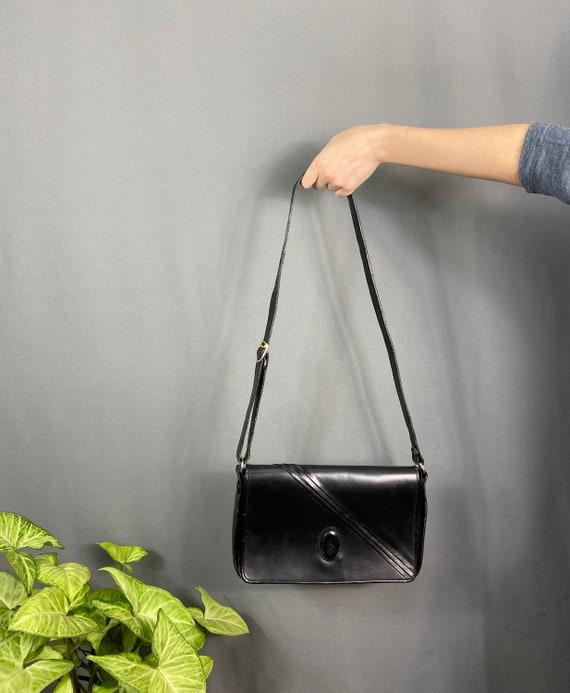 Vintage Yves Saint Laurent black leather crossbody