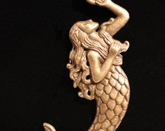 10 Mermaid Tail Charms 19mm Wholesale Antiqued Bronze Ocean Pendants BC0069082