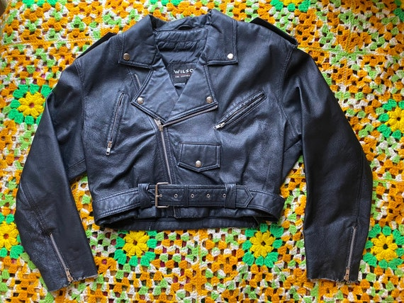 Vintage 90's Wilsons genuine leather motorcycle ja