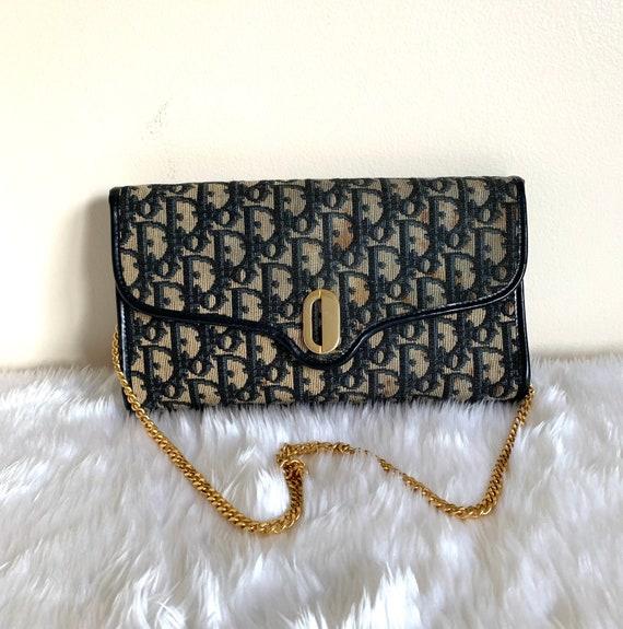 Vintage Dior monogram canvas shoulder bag