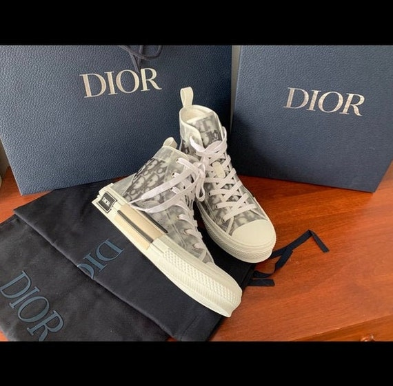 Authentic Christian Dior Oblique high top sneakers