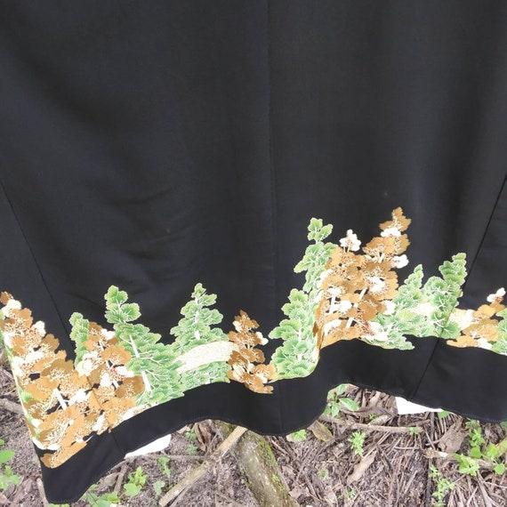 Vintage kimono Japanese embroidered,long kimono, … - image 7