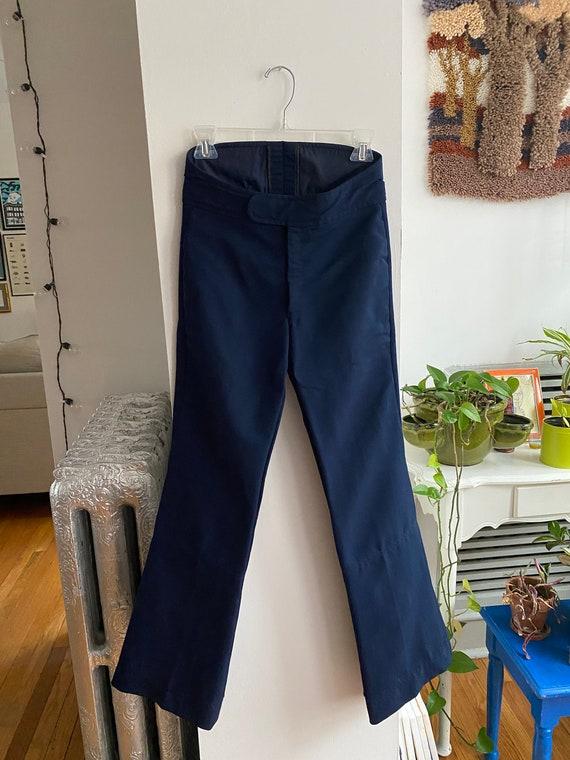 1980s Roffe Navy Blue Ski Pants