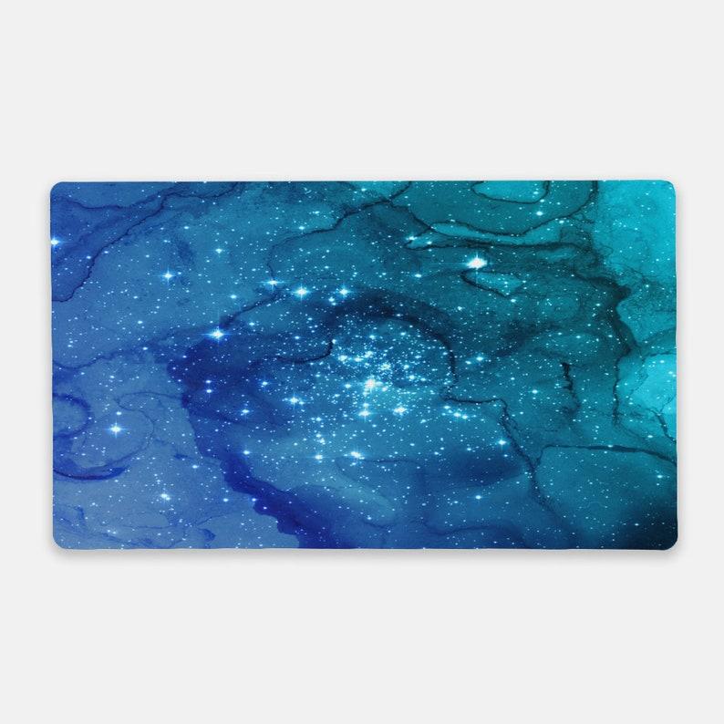 Galaxy Desk Mat Blue Mousepad Desk Mat Galaxy Mousepad Blue Mouse Pad Space Desk Mat Galaxy Mouse Pad Blue Desk Mat