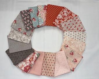 17 Fat Quarter Bundle - Sanctuary by 3 Sisters - Moda Fabrics