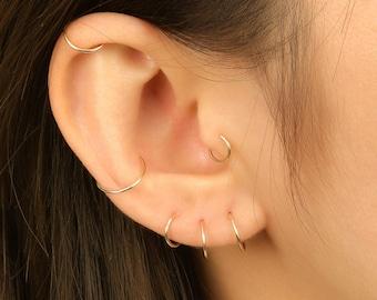 hoop earrings Iris2 boho earrings minimalist bridal earrings 14k gold filled hoop earrings Gold filled hoop earrings