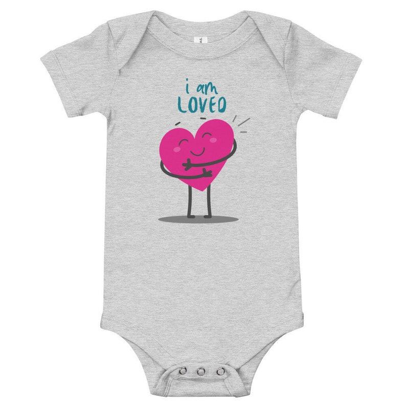 I am loved bodysuit heart onesie baby love onesie valentines day onesie I am loved onesie I love you onesie love shirt for baby