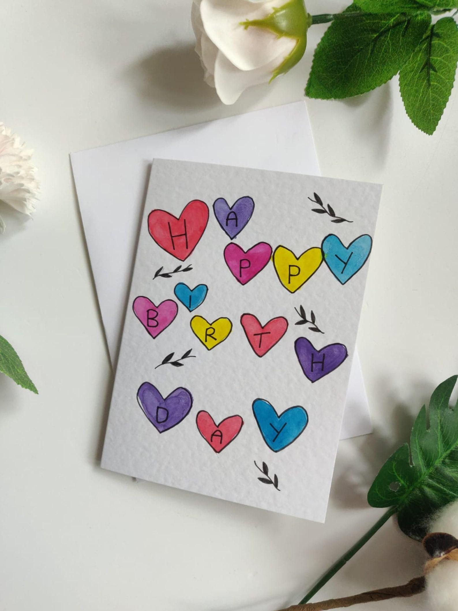 Alles Gute zum Geburtstag Briefe in Liebesherzen | Etsy