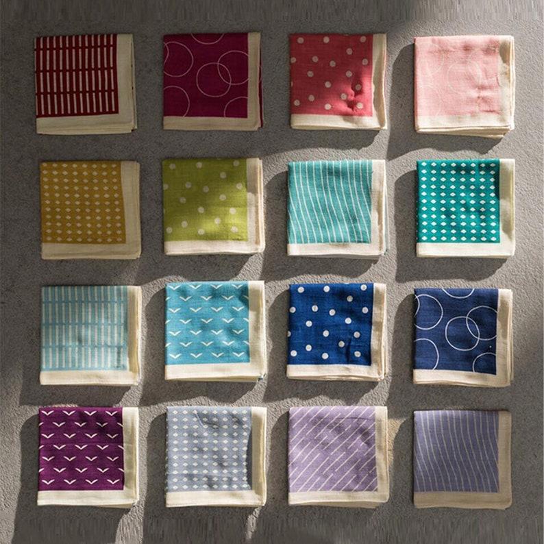 Flower Pattern 100/% Cotton Light Brown Topdrawer Japanese Handkerchief