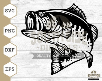 Download Largemouth Bass Svg Etsy