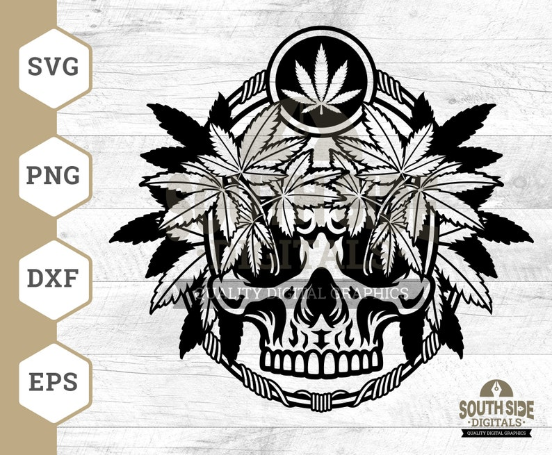 Skull svg Weed Skull Clipart Marijuana svg Weed svg Png Cutting Files Weed Skull svg Cannabis Skull svg Cannabis svg